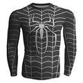 2017 homens da moda camisa do homem aranha pirnt superman homem de ferro capitão américa batman tees aptidão básica clothing mangas compridas 4xl