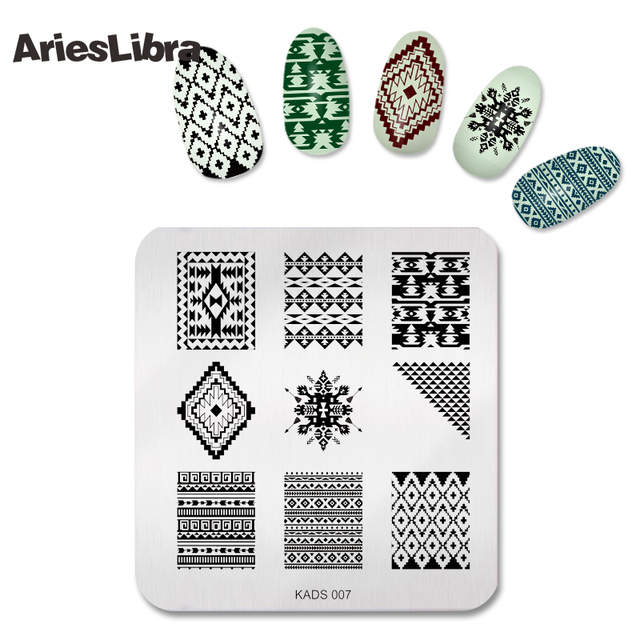 Pop Art Style image nail art stamp plate nail art template stamp ...