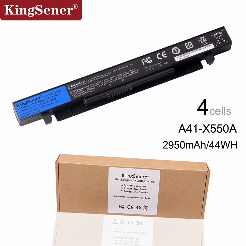 15V 2950mAh Korea Cell New A41-X550A Laptop Battery for ASUS A41-X550 X450 X550 X550C X550B X550V X450C X550CA X452EA X452C
