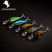 Conqueror 2017 good fishing lure The magnet minnow quality professional bait 60mm/6.5g 80mm/13.5g swim bait equipped VMC hook