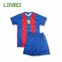 Lenrick 17 New Season Boy Football Club Shirt Children Soccer Uniform Kids Soccer Set Soccer Training Uniform De Futbol Infantil