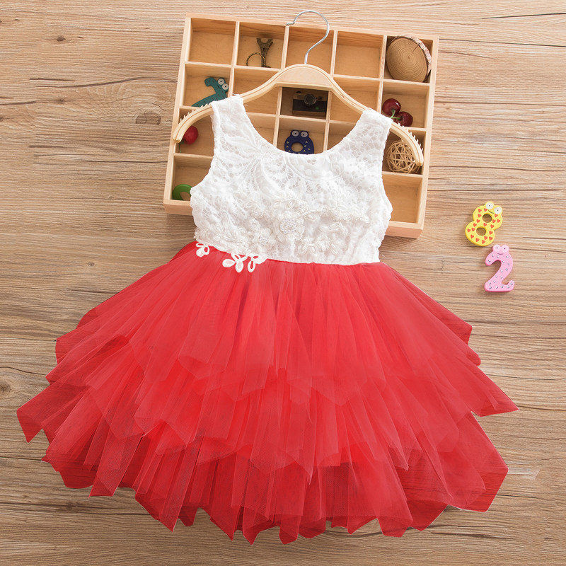 142a8c35e30d Κορίτσια   ρούχα Summer Beading Girl Dress 2018 White Backless Girls  Teenage Princess Dress Irregular Tutu 2-6 Years Pink Children Dresses Pink