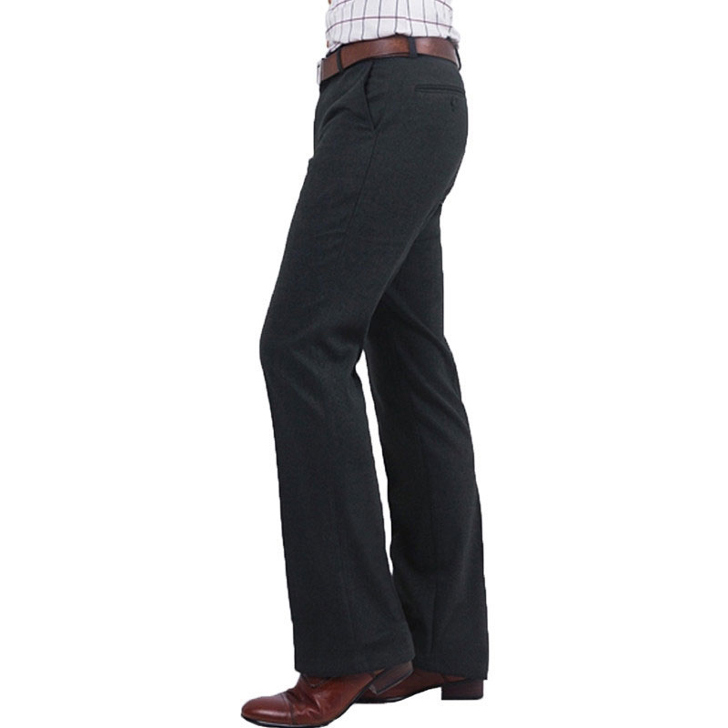 Men's Trousers Pants Business-Straight-Suits Thickening Winter And Autumn 36 Wool Warm