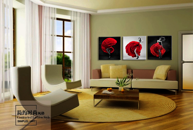 Aliexpress Buy Modern Beautiful Roses Definition Pictures Canvas Home Decoration Living Room Wall Modular Painting Print Cuadrosno Frame3pcs From