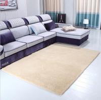 80cmx160cm Solid Carpet Bedroom Living Room Sofa Area Rugs Soft Non-slip Lamb Hair Rectangle Mat Home Decor Big Customiz Tapete