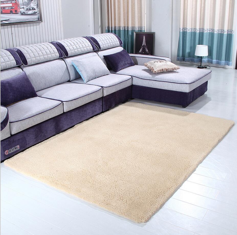 80cmx160cm Solid Carpet Bedroom Living Room Sofa Area Rugs Soft Non slip Lamb Hair Rectangle Mat Home Decor Big Customiz Tapete