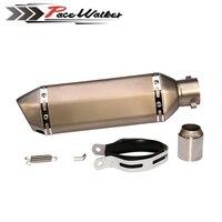 PEACWALKER 51mm Akrapovic Exhaust Muffler For CB400 CBR600 CBR1000 YZF R1 E6 GSXR600 GSXR750 Motorcycle Racing