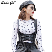 Streetwear Leather Tanks Womens Sexy Front Lace Up Strap Sheepskin Genuine Leather Hot Caims Casual Sleeveless Female Crop Tops