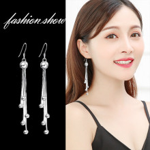 2019 New Korean Long Women Tasseled Earrings Female Jewelry Pearl