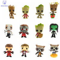 NEW 10cm Guardians Of The Galaxy GROOT Action Figure Bobble Head Q Edition New Box For
