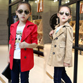 Big Girls Jackets Double Breasted Coats For Girls Trench Autumn Children Outerwear Spring Kids Clothes Tops 5 6 8 10 12 14 Years