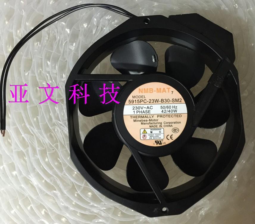 NMB-MAT 5915PC-23W-B30-SM2 AC 230V 40W, 172x150x38mm Server Round fan free shipping for nmb 4715ms 23t b30 a00 ac 230v 12 11w 2 pin 120x120x38mm server square cooling fan