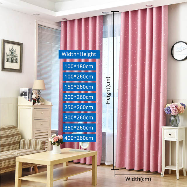 AliExpress & US $6.18 |Bronzing Stars Decorative Window Treatment 5 Colors Blackout Curtain Drapes for Living Room Kids Bedroom Blinds Decoration-in Curtains from ...