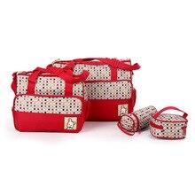 5pcs/set Multifunctional Mummy Bag Maternity Handbag Baby Diaper Bags baby Tote Organizer bolsas de bebe maternidade+bottle bag
