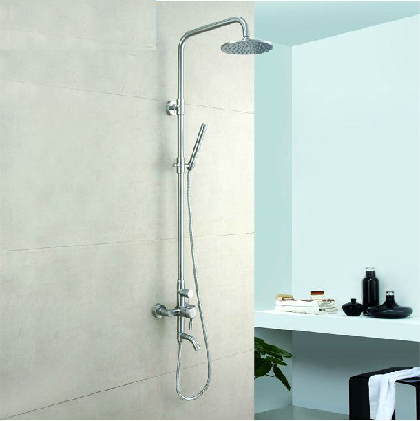 CRW Brass Concealed Bathroom Shower Head Set with Hot&Cold Water Shower Mixer Shower System Square Rainfall Brass Shut off - 2