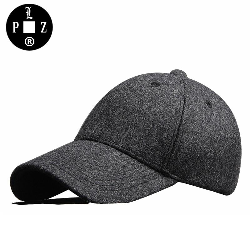 PLZ 2017 Winter Warm Dad Hat With Fleece Fashion Men Suede Baseball Cap Trucker Hats Black