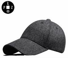 PLZ 2017 Winter Warm Dad Hat With Fleece Fashion Men Suede Baseball Cap Trucker Hats Black Gray Adjustable 56-59cm Father Gifts