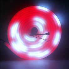 5m WS2811 Led Neon Strip light WS2812 Individually Addressable Smart RGB 12V Neon Led pixel strips Waterproof IP67 Outdoor Decor