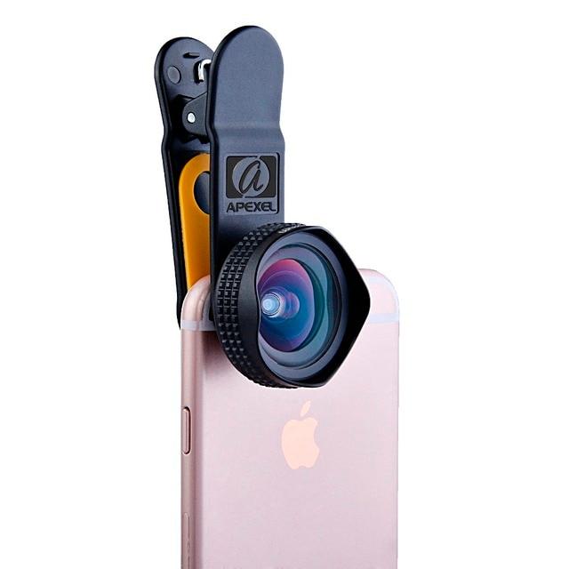 Apexel Optic Pro Portrait lens 18MM HD Wide Angle Camera Lens kit More Landscape for iPhone 7 6s plus & iphone 5 universal clip 3