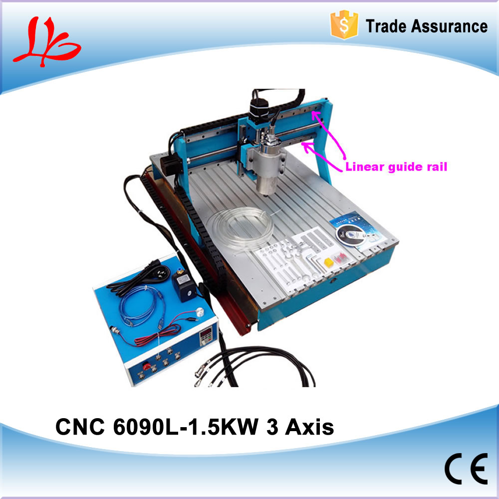 CNC Engraving Machine Parallel Port Mach3 Control Mini CNC Router 6090 1.5KW with Linear Rail Guide Lathe Woodworking Machine model 3d cnc machine 6090 woodworking cnc router for sale