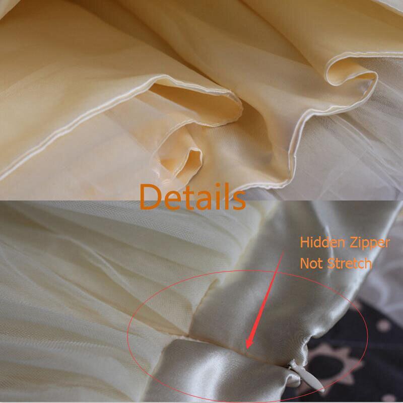Пухлые 7 слоев фатина юбка скрытая молния лето высокой талией макси юбки женская взрослых туту плиссированные юбки faldas saias плюс размер