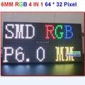 P6 módulo de alta resolução, grande tamanho 384mm * 192mm, 64*32 pixel, cor cheia, simples de instalar, painel de display led board 6mm alta limpar