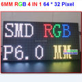 p6 high resolution module,big size 384mm * 192mm,64 * 32 pixel,full color,simple install,led display board 6mm high clear panel