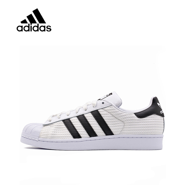 reputable site b40a8 ded0d Original New Arrival Authentic ADIDAS SUPERSTAR Men Skateboarding Shoes  Sneakers Breathable Sport Outdoor Good Quality