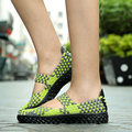 2016 New Fashion Women Woven Straw Braid Handmade Shoes Creepers Soft Comfortable Espadrilles Moccasins Fashion Casual Shoes