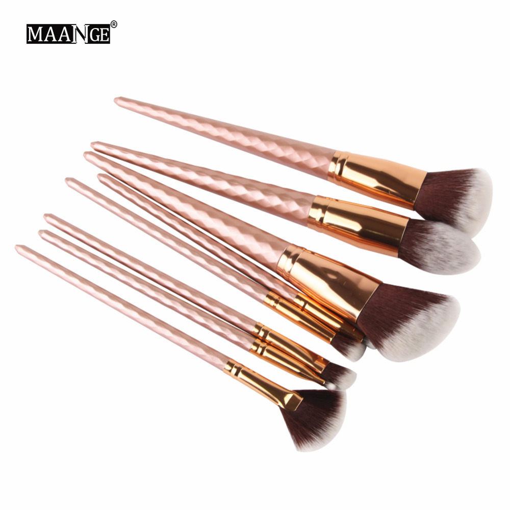 Pro 8pcs Makeup Brushes Set Cosmetic Face Foundation Powder Eyeshadow Blush Lip Plating Make Up Brush Kit Maquiagem pro 15pcs tz makeup brushes set powder foundation blush eyeshadow eyebrow face brush pincel maquiagem cosmetics kits with bag