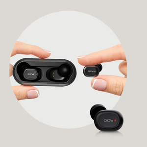 Image 5 - 2018 QCY T1 TWS BT5.0 Wireless Earphones with Dual Microphone Sports Bluetooth Headphones For Phones and Music