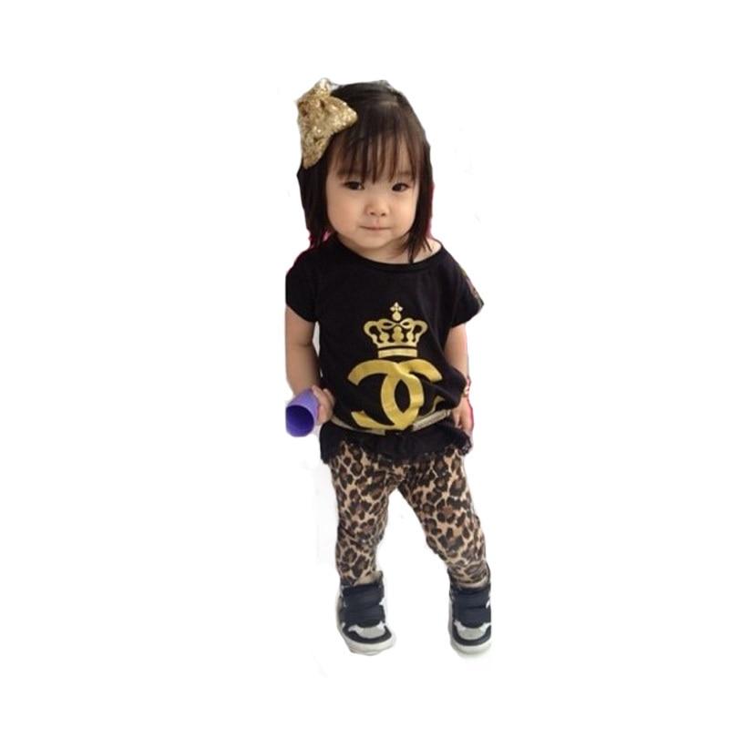 2016 kids summer clothes girls clothing sets vetement enfant fille sport casual children