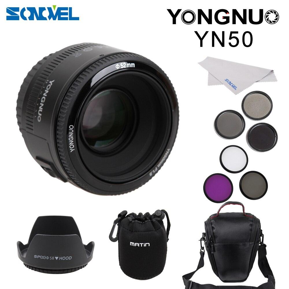 YONGNUO YN50mm Obiettivo AF f1.8 YN 50mm Apertura Fotocamera Auto Focus Lens per Canon EOS DSLR Camera
