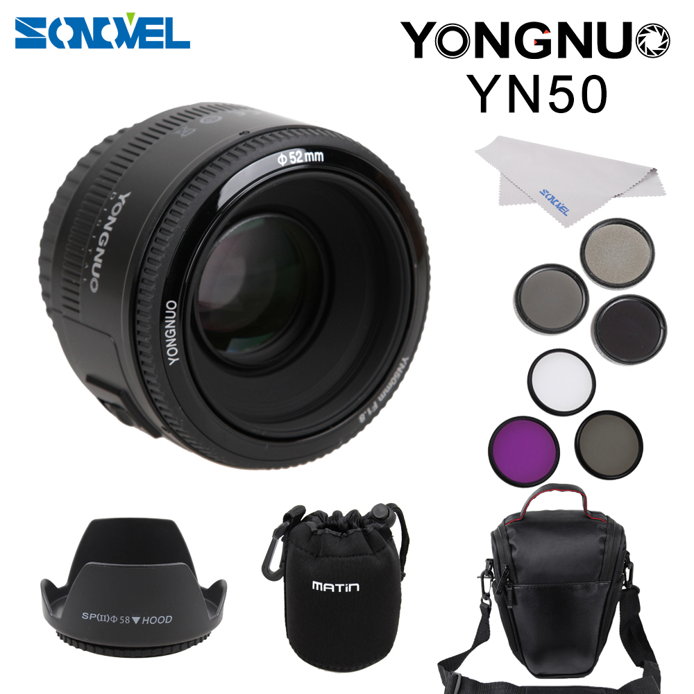 YONGNUO YN50mm f1.8 AF Lens YN 50mm Aperture Auto Focus Camera Lens for Canon EOS DSLR Camera yongnuo yn 50mm f 1 8 af lens yn50mm aperture auto focus large aperture for nikon dslr camera as af s 50mm 1 8g gift kit page 8