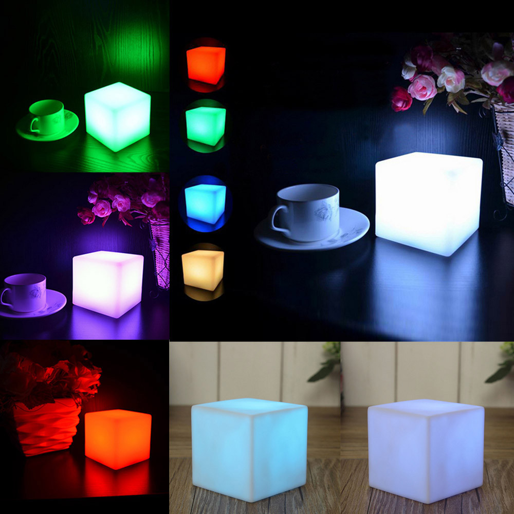 2019 Light Sensor Control Night Light Mini EU US Plug Novelty Square Bedroom Lamp For Baby Gift Romantic Colorful Lights Family