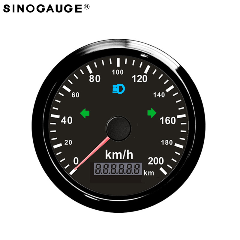 200km/h Black Silver GPS Speedometer 85mm Cars Trucks Bus DC12/24V Left Right High Beam Indicator Lights Free With GPS antenna 100% brand new gps speedometer 60knots for auto boat with gps antenna white color