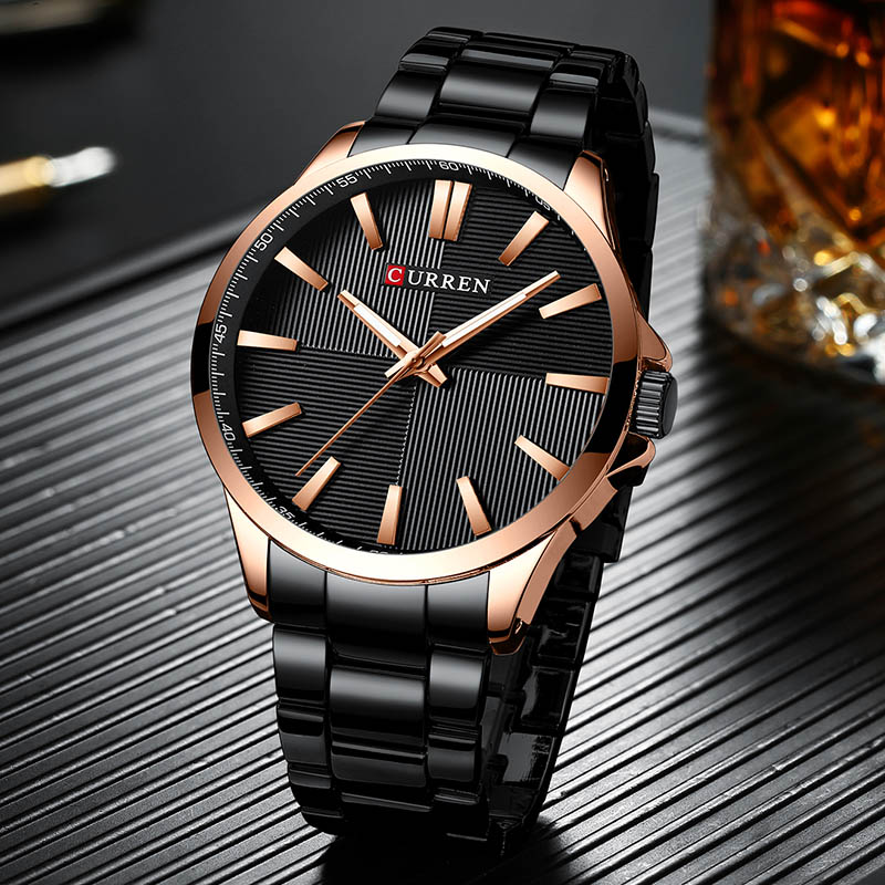 Curren Man Watches 2019 Brand Luxury Stainless Steel Men's Wristwatch Clock Mens Watches Top Brand Luxury Day Date Wristwatch(China)