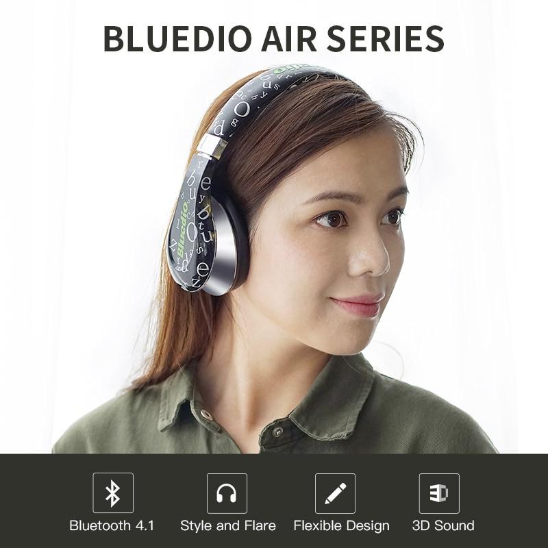 2017 Rushed Earphones Original Bluedio A(Air) New Model Bluetooth Headphone&wireless Headset Fashionable Headphones for Mp3 original headphone bluedio t2 headphones version 4 1 wireless headset stereo earphones with microphone handsfree calls