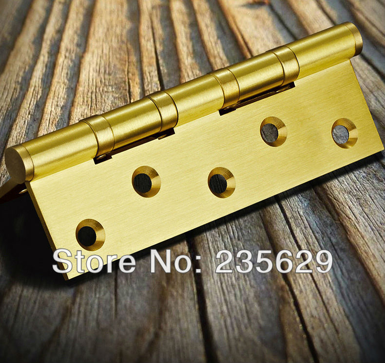 Free Shipping, 5inch brass Hinges for timber door / Metal Door, 3mm thickness, Low Noise, ball bearing hinge, smooth and quite 1pcs hidden hinges size 28x118mm bearing 50kg invisible concealed cross door hinge stainless steel hinge for folding door kf1063
