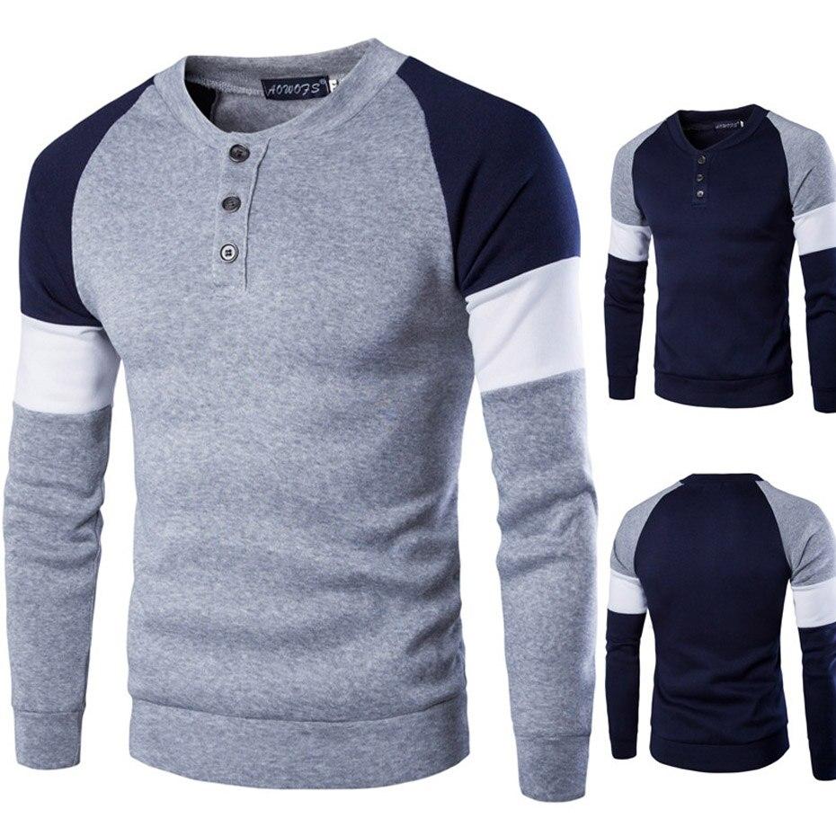 Zogaa New Spring Autumn Elastic Mens T-Shirt O-Neck Long Sleeve Men T Shirt For Male Big Size Cotton Blend TShirt High Quality