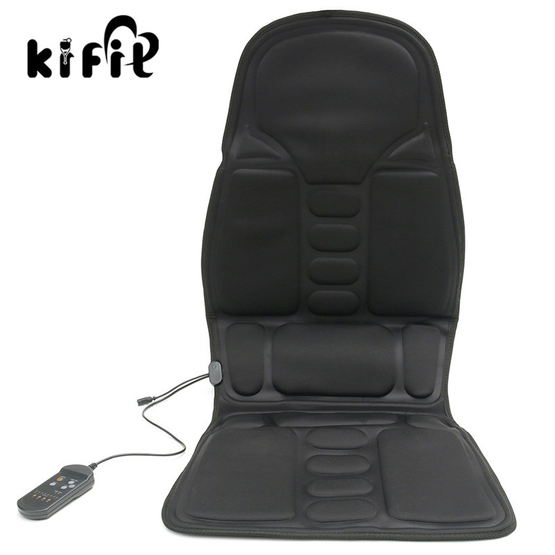 KIFIT HOT Sale Black Back Massage Soothing Chair Heat Seat Cushion Neck Pain Lumbar Support Car Pads Relief Health Care Tool biety vehicle car seat head neck rest cushion pillows grey 2pcs