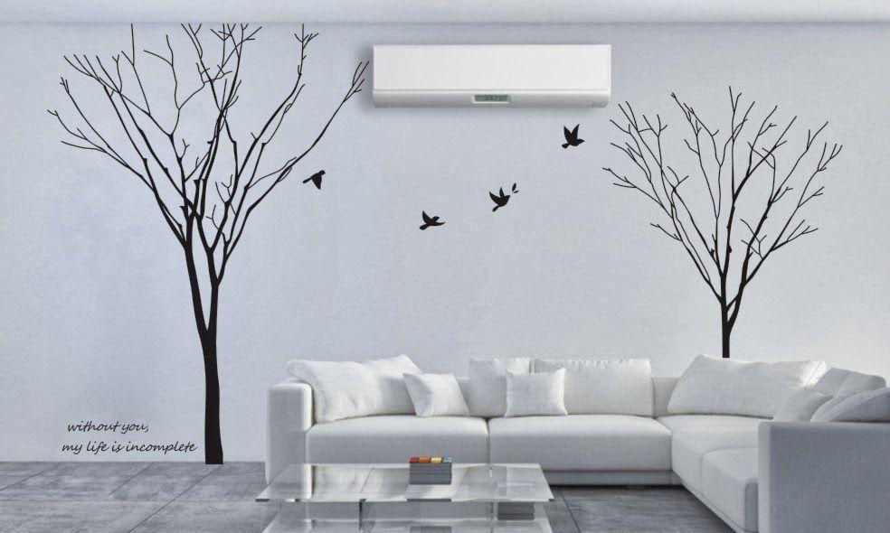 Autocollants muraux amovibles à deux branches d'arbre papier peint en PVC non toxique décor de papier autocollant en vinyle bricolage nouveaux arrivants vente chaude Mural SA365