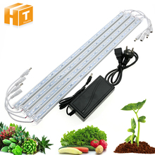 LED Grow Light Tube 3 Red 1 Blue DC12V Full Spectrum Growth LED Bar Light Set With Adapter for Indoor Hydroponic system
