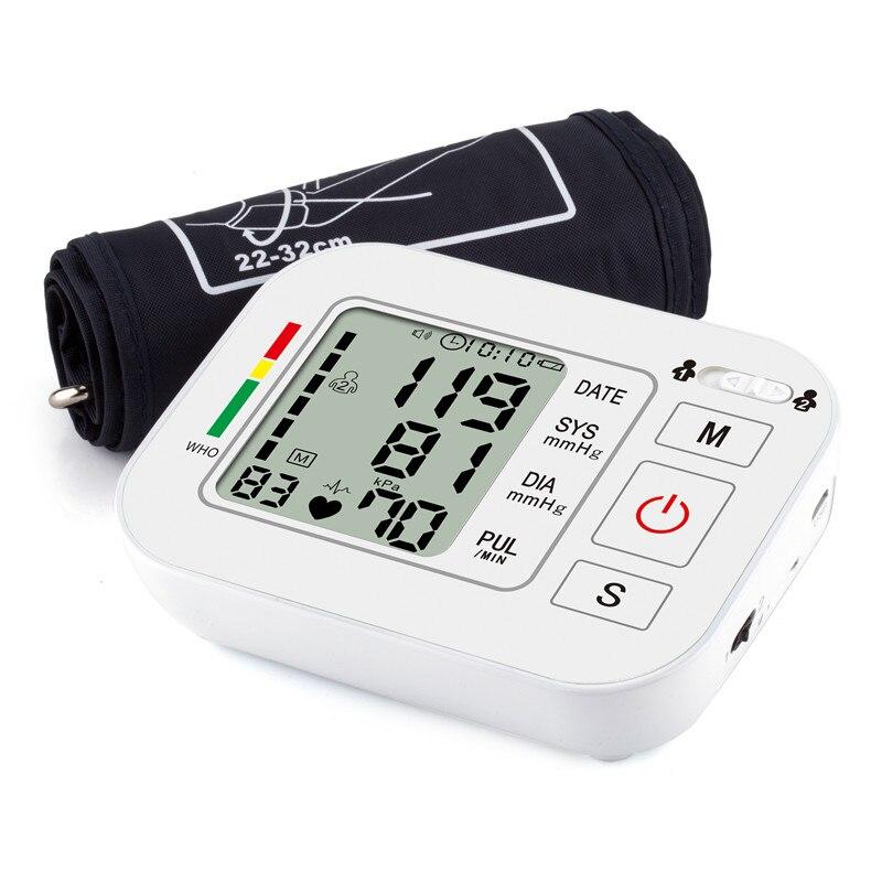 Superiore del Braccio digitale di Pressione Sanguigna Pulse Monitor tonometro Portatile per la cura della salute bp Monitor di Pressione Sanguigna metri sfigmomanometro