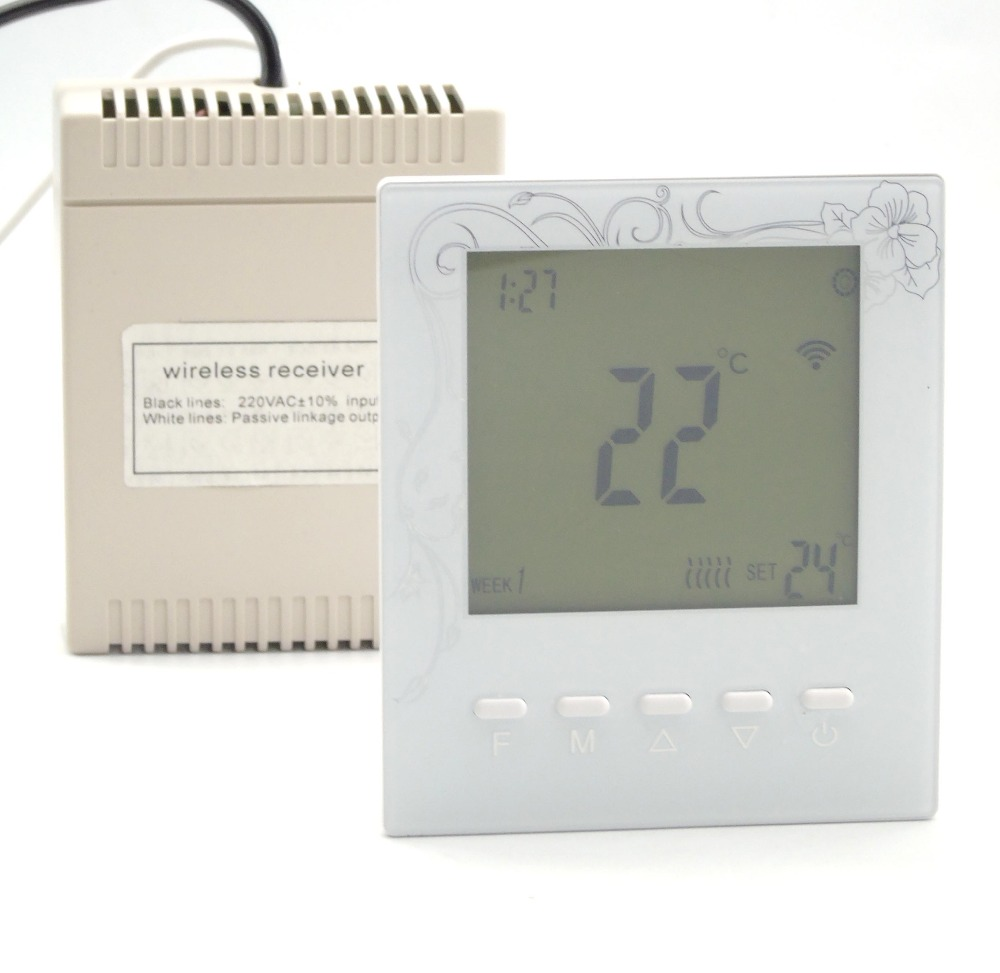 7*6 time bucket programmable Radio frequency wireless boiler thermostat battery time frequency analysis