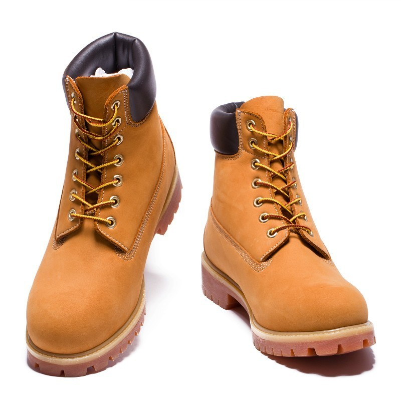 TIMBERLAND Classic Men's 6-Inch Premium Waterproof Boots For Men Male Nubuck Genuine Leather Ankle Wheat Yellow Shoes 10061 3