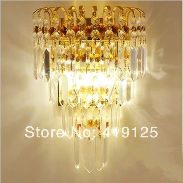 free shipping Bedroom wall lamp modern single-head bedside lamp k9 crystal wall mounted light стоимость