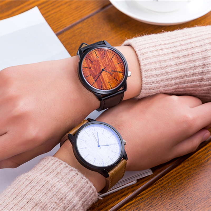Fashion Men Watches Quality Quartz Wrist Watch Band Leather Wood Grain Male Clock Top New Man Wristwatch 12 Hours Relogio Homem paidu unique fashion truntable square dial design leather band men women quartz wrist watch dress hours male watch gifts relogio