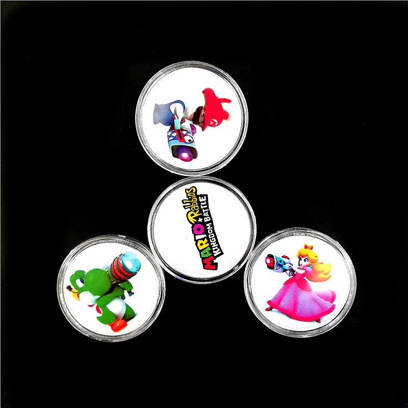 Full Set 4Pcs Mario+Rabbids Kingdom Battle NFC <font><b>Card</b></font> Of <font><b>Amiibo</b></font> Collection Coin Tag NTAG215 NS/Switch Zelda <font><b>Splatoon</b></font> Kart Super image