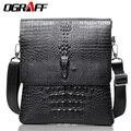 OGRAFF Homens mensageiro sacos de Crocodilo padrão saco de viagem de couro famosa marca de alta qualidade bolsa de ombro homens pasta do negócio